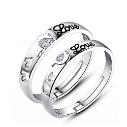 Couple Rings Sterling Silver Ladies Fashion 2pcs / Couple's / Couple's / Zircon Lightinthebox