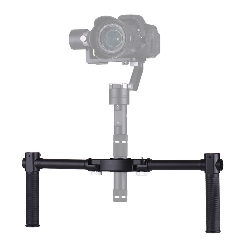 Foldable Dual Handheld Grip Bracket Kit Gimbal Extended Handle for Zhiyun Crane Crane 2 Crane-M Crane PLUS for FeiyuTech a1000 a2000 Handheld Gimbal Stabilizer