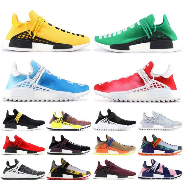 BBC Multi Color NMD Human Race Pharrell Williams Solar Pack Mother Inspiration Pack White Black Yellow Mens Womens stylist Shoes Sneakers