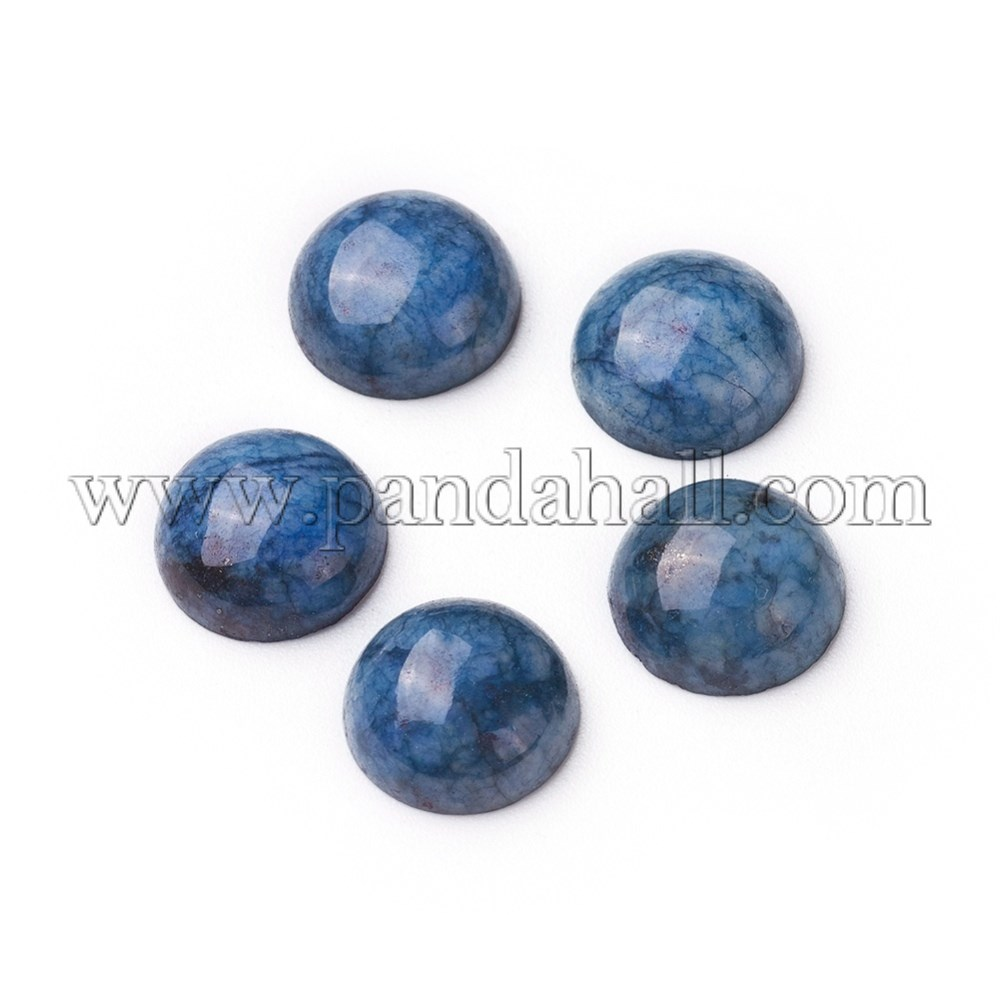 Natural Sodalite Cabochons, Half Round, 9x3.5~4mm