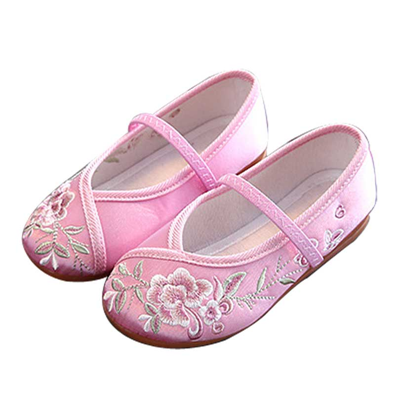 Baby / Toddler Flower Embroidered Shoes First Walkers