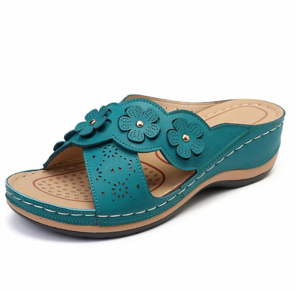 Women Sandals beach Female Shoes Woman Flowers Ladies Slip-on Flat Beach Women Sandalias