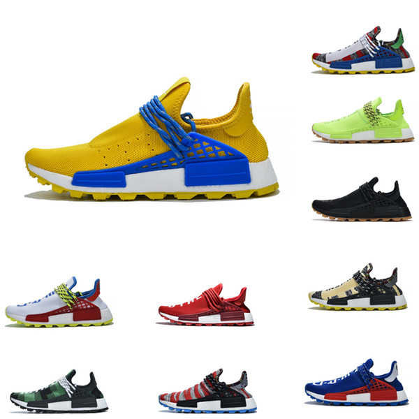 2020 Running Shoes Human Race Warm and peaceful Pharrell Williams X BBC Sports Sneakers NMD Colorful stitching knitting Trainers Shoes