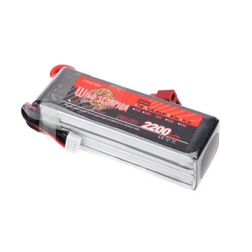 Wild Scorpion 14.8V 2200mAh 35C MAX 45C 4S T Plug Li-po Battery for RC Car Airplane Helicopter Part
