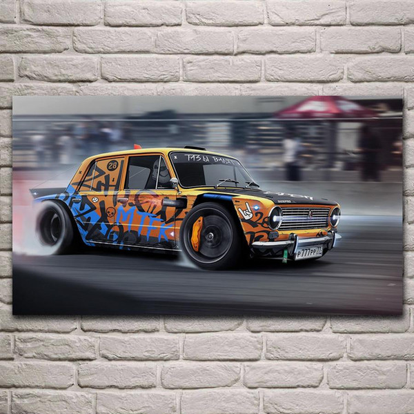 vintage graffiti sports car poster wall art pictures painting wall art for living room home decor (no frame)
