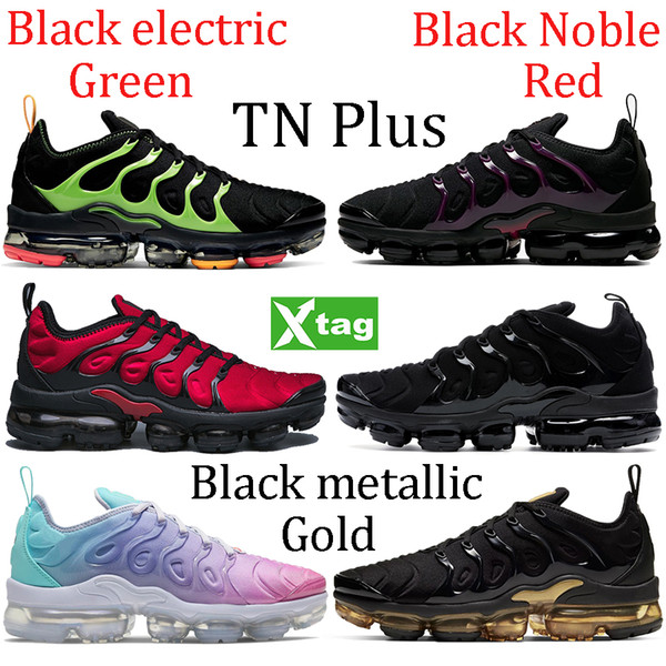 2021 triple white TN Plus running shoes black metallic gold Noble Red electric green pink sea sneakers Active Fuchsia men women trainers