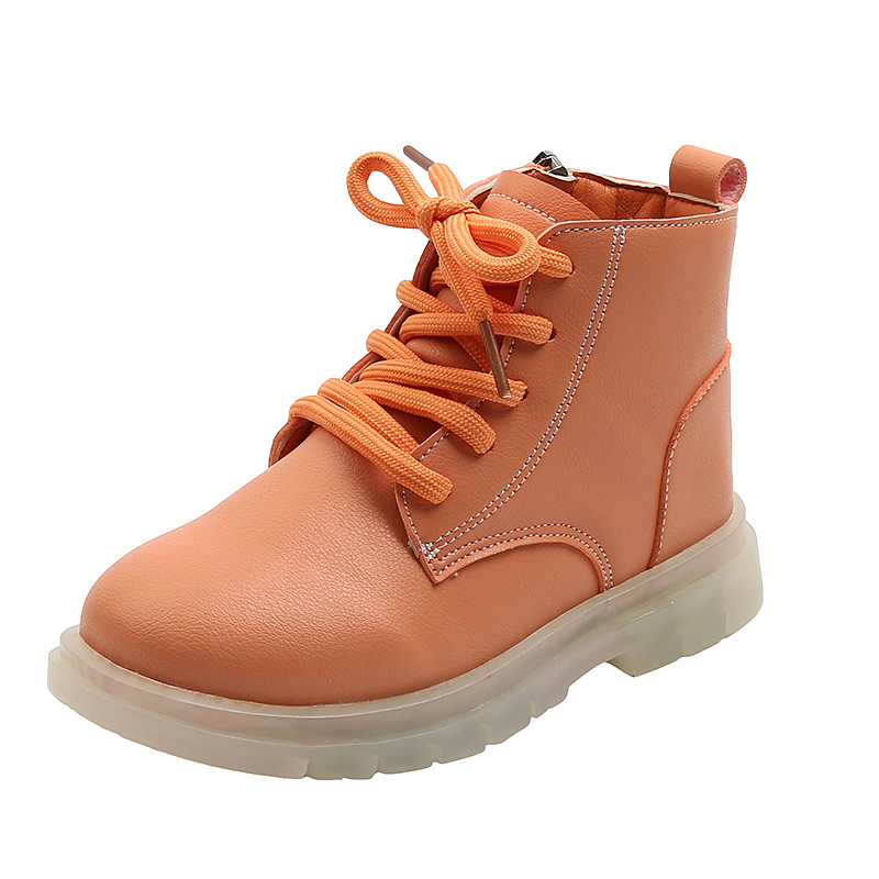 Toddler / Kid Solid Lace-up Casual Boots
