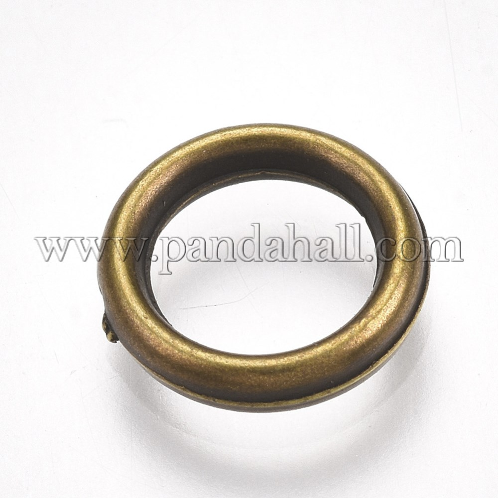 CCB Plastic Lingking Ring, Ring, Antique Bronze, 10x2mm, Hole: 6.5mm