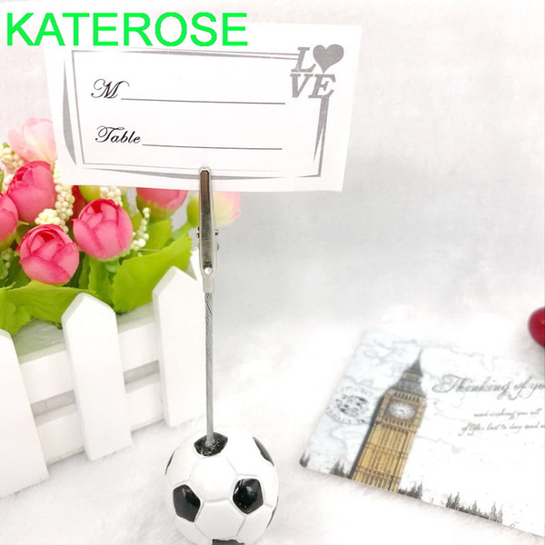 12PCS Sport Party Accessories Football Place Card Holder Soccer Card Holders Unique Wedding Table Decoration Favors 1027