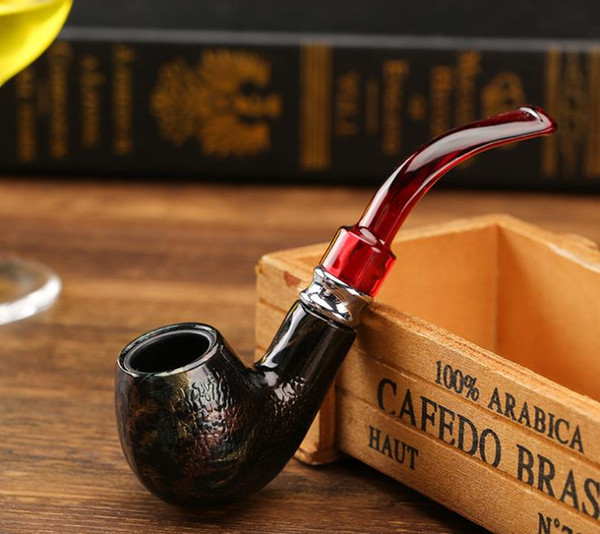 New Short Serpentine Bakelite Personality Creative Pipe 140mm Removable Bending Tobacco Parts in 2019