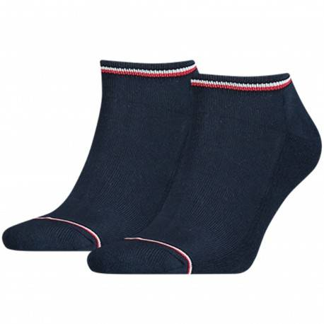 Tommy Hilfiger 2-Pack Iconic Sneaker Socks - Navy 39/42
