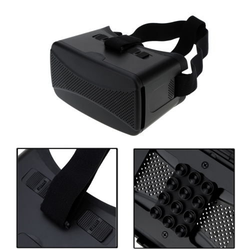 Universal Virtual Reality 3D Video Glasses Headband with Build-in Suckers for 4-5.7in for iPhone Samsung Smartphone