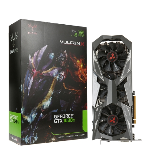 Colorful iGame GTX1080Ti Vulcan X OC 1620-1733MHz 11G 352bit Video Graphics Card