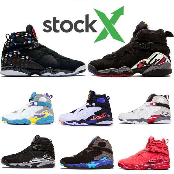 hot sale cool 8 Playoff Raid 8s Basketball Shoes Valentine's Day COUNTDOWN PACK trainers Aqua Sports Shoes Athletic Sneakers Size 7-13